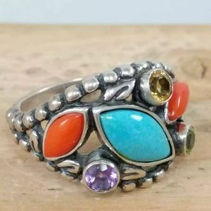 Carolyn Pollack Navajo Size 9 Signed 925 Ring